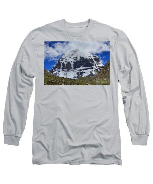 Holy Kailas North Slop Himalayas Tibet Yantra.lv Long Sleeve T-Shirt