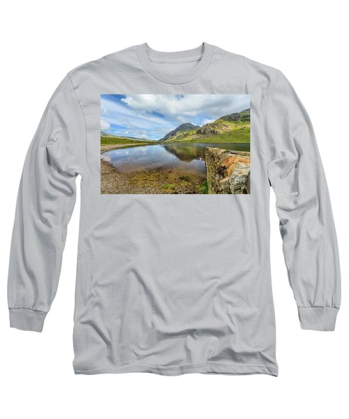 Long Sleeve T-Shirt featuring the photograph Idwal Lake Snowdonia by Adrian Evans