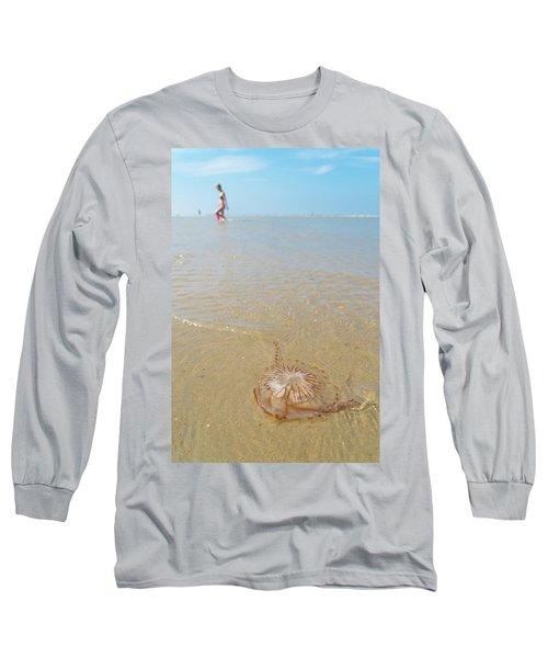 Jellyfish On Beach Long Sleeve T-Shirt