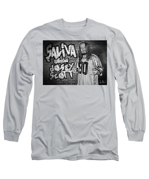 Long Sleeve T-Shirt featuring the photograph Josey Scott Saliva by Don Olea