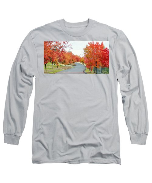 Long Sleeve T-Shirt featuring the photograph Last Days Of Autumn by AJ Schibig
