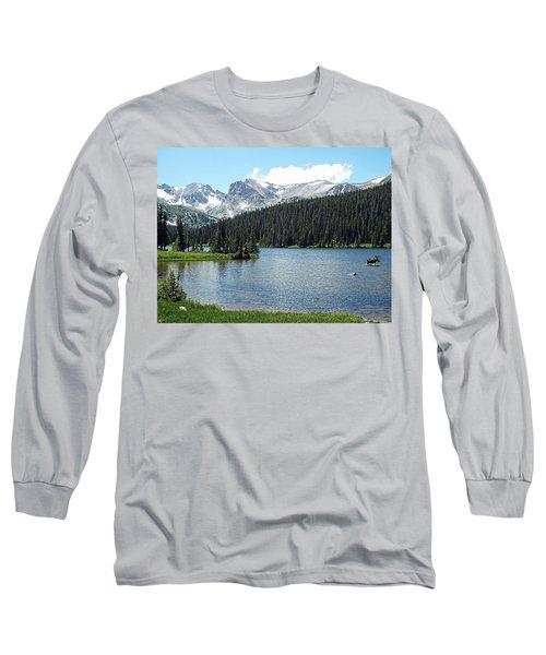 Long Sleeve T-Shirt featuring the photograph Long Lake Splender  by Joseph Hendrix