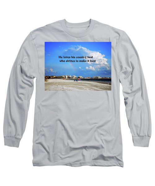 Long Sleeve T-Shirt featuring the photograph Love Of Country by Gary Wonning