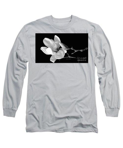 Magnolia In Monochrome Long Sleeve T-Shirt by Jeannie Rhode