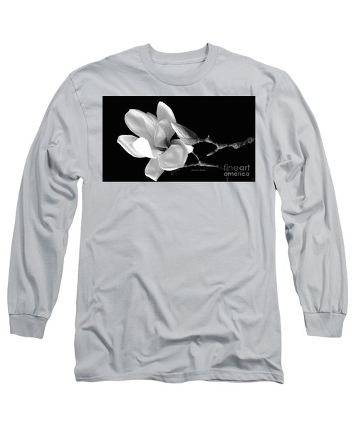 Magnolia In Monochrome Long Sleeve T-Shirt