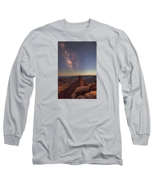 Milky Way At Twilight - Marlboro Point Long Sleeve T-Shirt