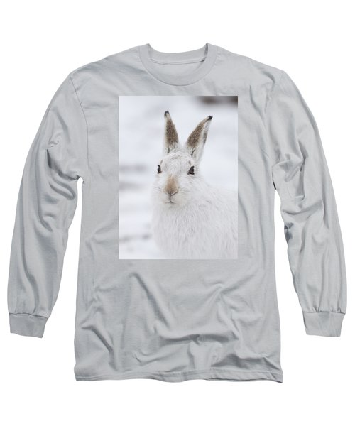 Mountain Hare In The Snow - Lepus Timidus  #1 Long Sleeve T-Shirt