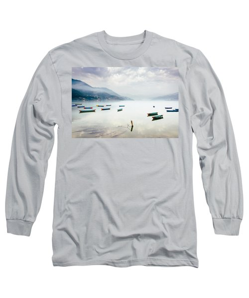 Phewa Lake In Pokhara, Nepal Long Sleeve T-Shirt