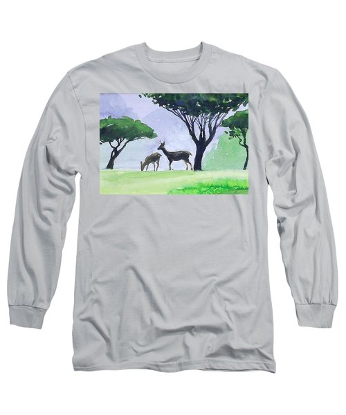 Long Sleeve T-Shirt featuring the painting Point Lobos by Ed Heaton