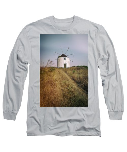 Long Sleeve T-Shirt featuring the photograph Portuguese Windmill by Carlos Caetano