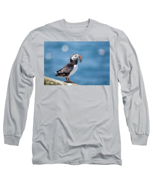Puffin With Fish For Tea Long Sleeve T-Shirt