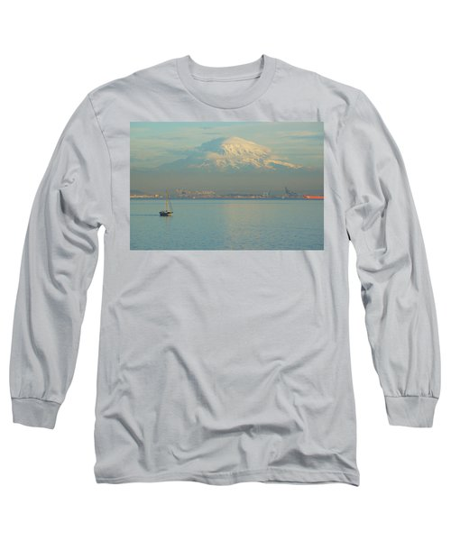 Long Sleeve T-Shirt featuring the photograph Puget Sound by Angi Parks