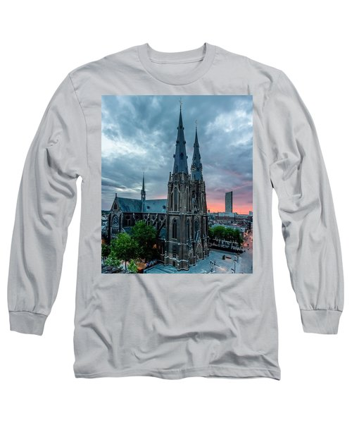 Saint Catherina Church In Eindhoven Long Sleeve T-Shirt by Semmick Photo