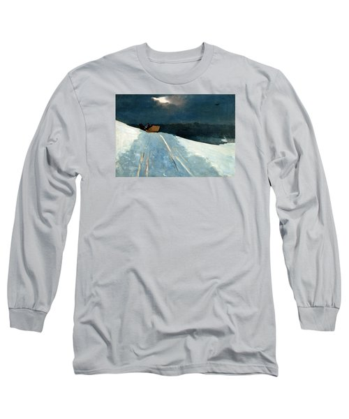 Long Sleeve T-Shirt featuring the painting Sleigh Ride by Winslow Homer