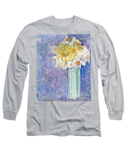 Spring Blossoms Long Sleeve T-Shirt by Jan Bennicoff