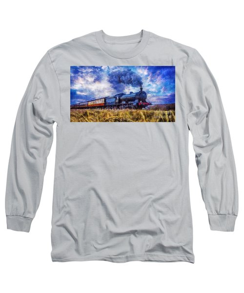 Steam Train Long Sleeve T-Shirt by Ian Mitchell