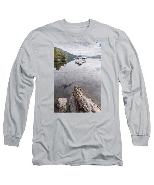 Steamship Sir Walter Scott On Loch Katrine Long Sleeve T-Shirt