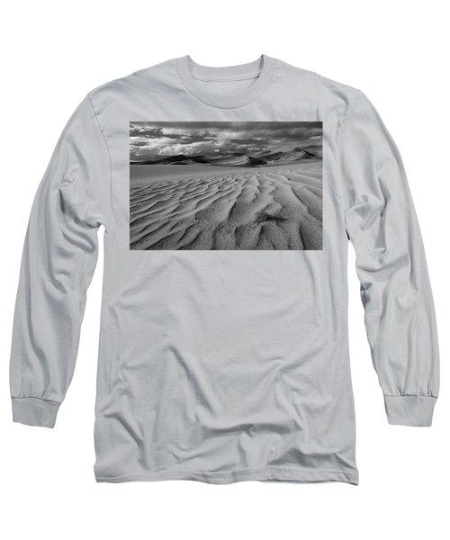 Storm Over Sand Dunes Long Sleeve T-Shirt