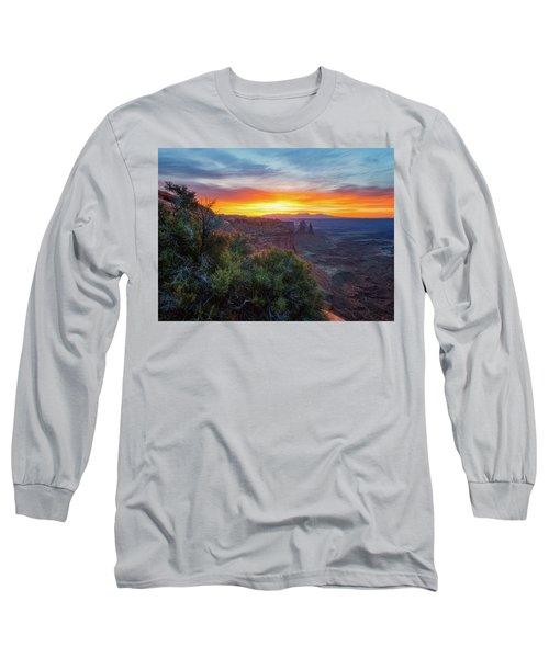 Long Sleeve T-Shirt featuring the photograph Sunrise Over Canyonlands by Darren White