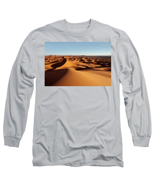 Sunset In Erg Chebbi Long Sleeve T-Shirt by Aivar Mikko