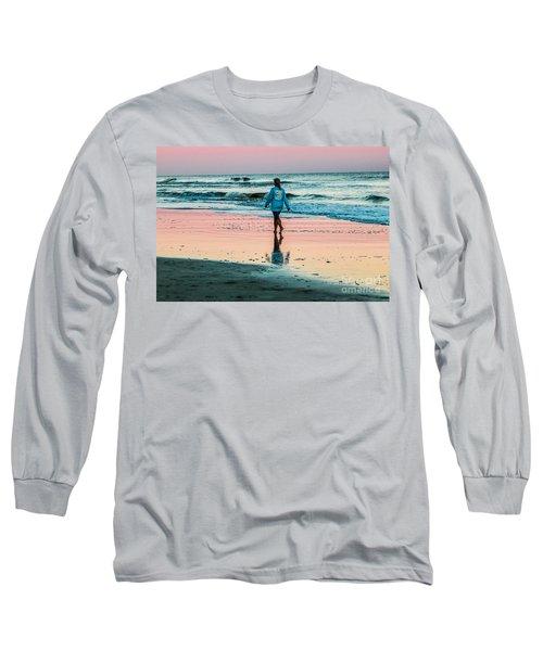 Sunset Stroll In The Surf Hilton Head Long Sleeve T-Shirt