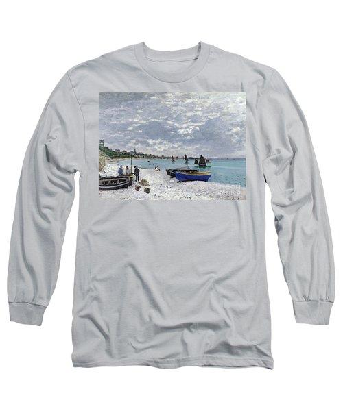 The Beach At Sainte Adresse Long Sleeve T-Shirt
