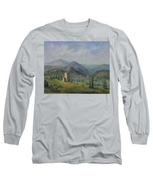 Tuscany Italy Olive Groves Long Sleeve T-Shirt