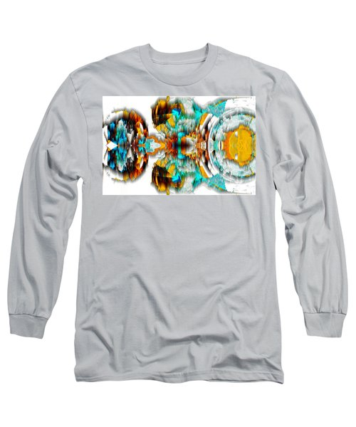 Long Sleeve T-Shirt featuring the digital art Untitled Series 992.042212 -c by Kris Haas