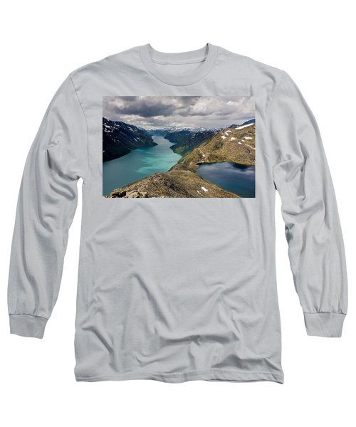 View From Bessegen Ridge Long Sleeve T-Shirt by Aivar Mikko