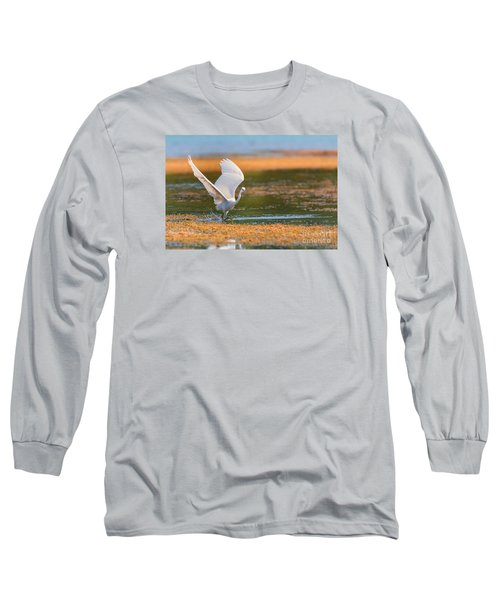 Long Sleeve T-Shirt featuring the photograph Wading by Jivko Nakev