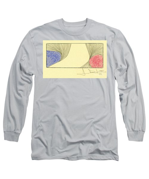 Waves Blue Red Long Sleeve T-Shirt