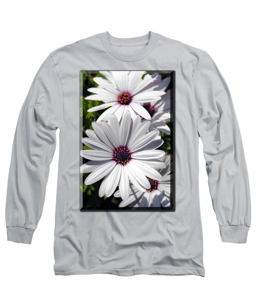 White Flower T-shirt Long Sleeve T-Shirt