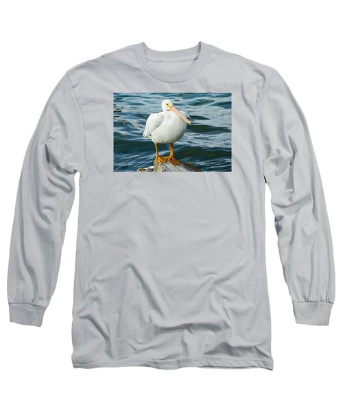 White Pelican Long Sleeve T-Shirt