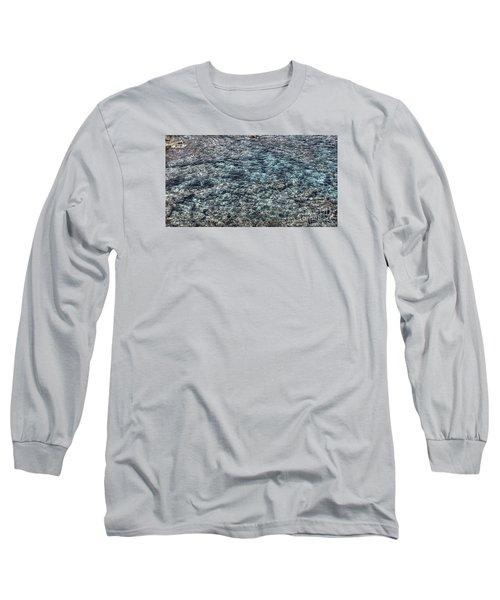 Long Sleeve T-Shirt featuring the pyrography Yury Bashkin Sea by Yury Bashkin