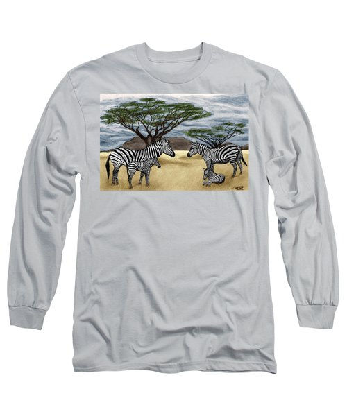 Zebra African Outback  Long Sleeve T-Shirt