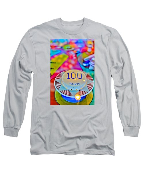 100 Points - Pinball Long Sleeve T-Shirt by Colleen Kammerer