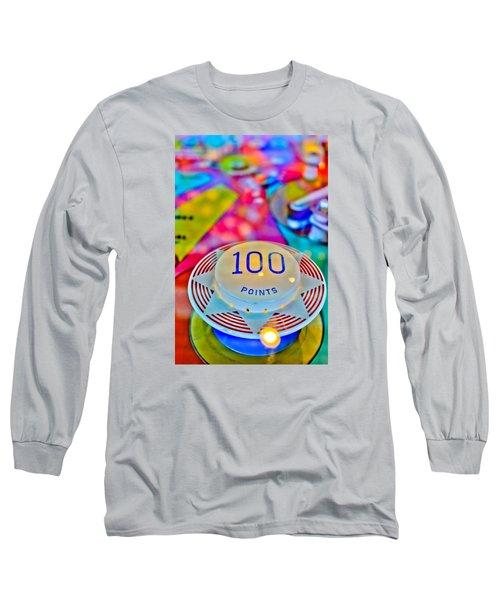 100 Points - Pinball Long Sleeve T-Shirt