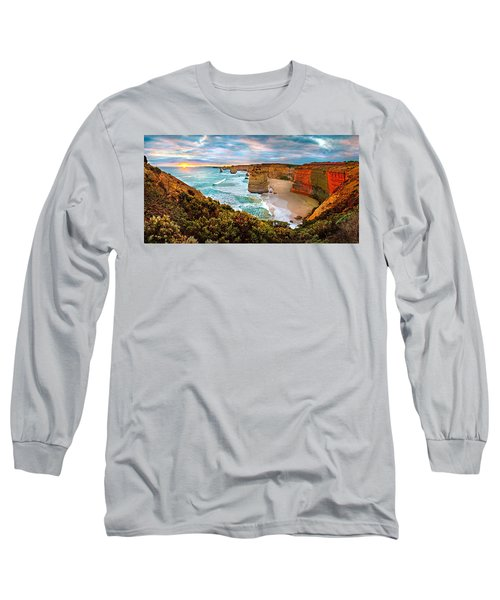 12 Apostle Sunset Long Sleeve T-Shirt by Az Jackson