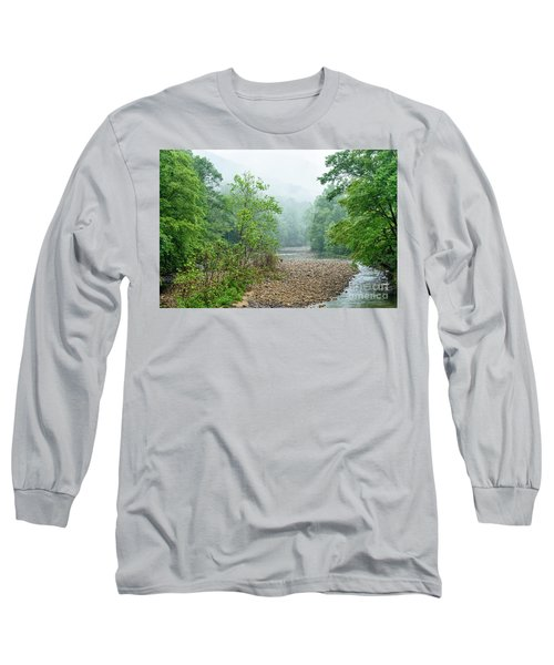 Long Sleeve T-Shirt featuring the photograph Williams River Summer Mist by Thomas R Fletcher