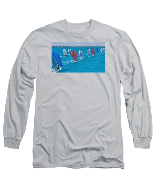 Miami Skyline Regatta Long Sleeve T-Shirt by Steven Lapkin