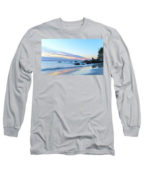 Rocky Daybreak Seascape Long Sleeve T-Shirt