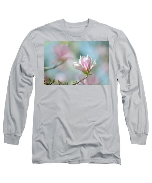 Magnolia Flowers Long Sleeve T-Shirt