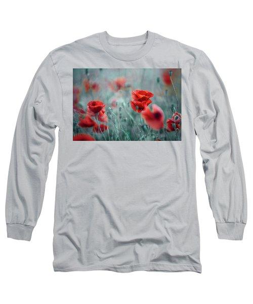 Summer Poppy Meadow Long Sleeve T-Shirt