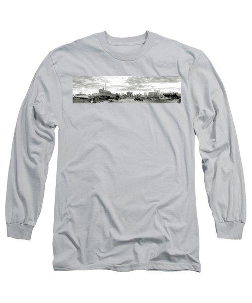 1926 Miami Hurricane  Long Sleeve T-Shirt by Jon Neidert
