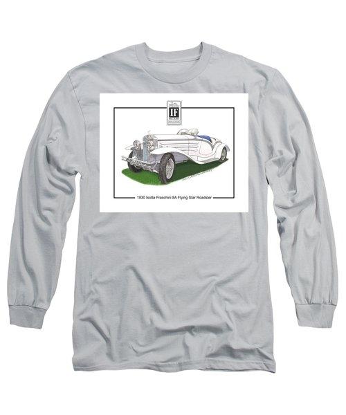 1930 Isotta Fraschini 8a Flying Star Roadster Long Sleeve T-Shirt by Jack Pumphrey