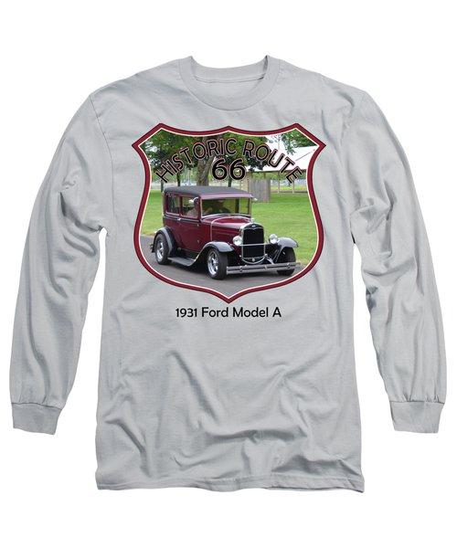 1931 Ford Model A Evensen Long Sleeve T-Shirt