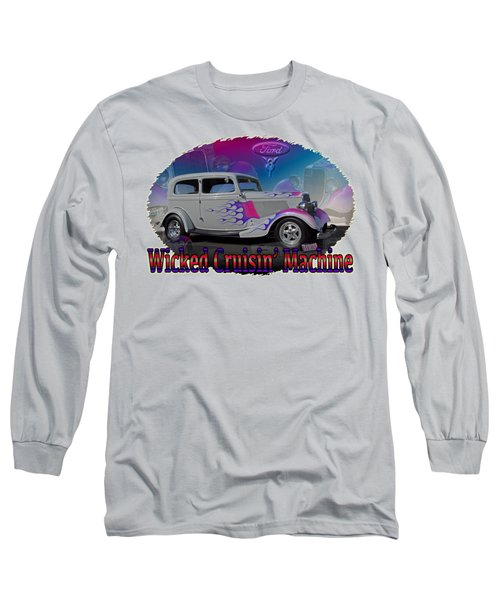 Long Sleeve T-Shirt featuring the digital art 1934 Ford Delux by Richard Farrington