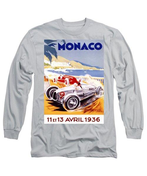 1936 F1 Monaco Grand Prix  Long Sleeve T-Shirt