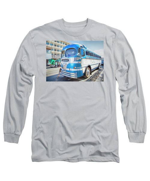 Long Sleeve T-Shirt featuring the photograph 1946 Greyhound by Theresa Tahara