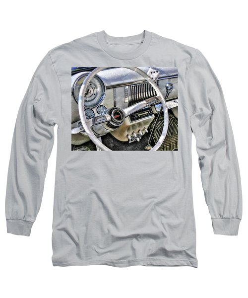 1950 White Chevy Coupe Long Sleeve T-Shirt by Trey Foerster
